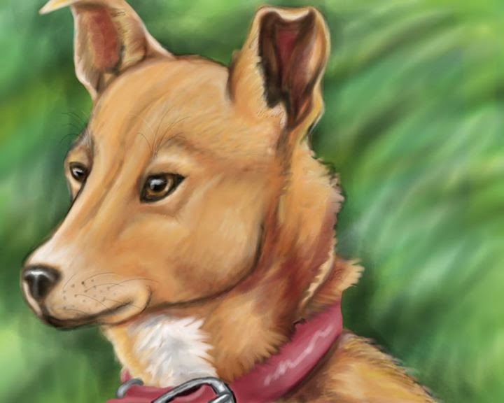 Zoey beautiful #dog #painting featured on the #petparade #bloghop