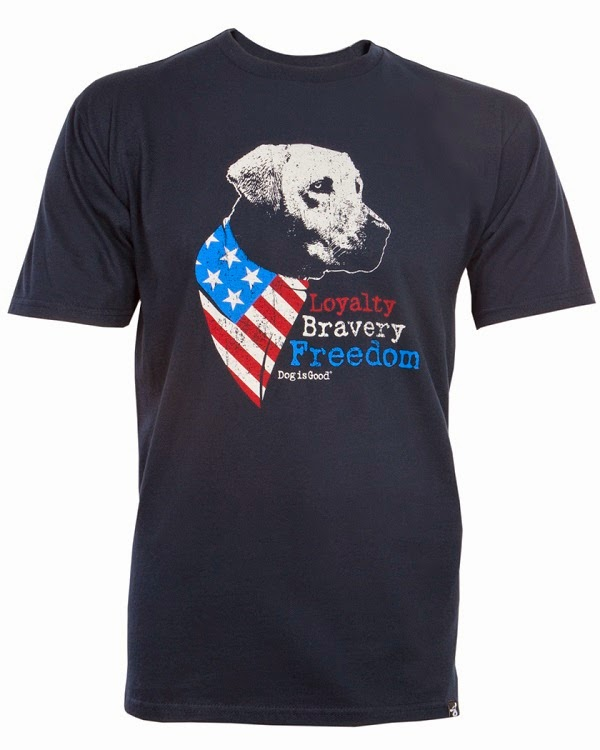 Monday Matters- Dog is Good for Patriots! DIG will donate $10 to Freedom Service Dogs of America for each t-shirt purchase