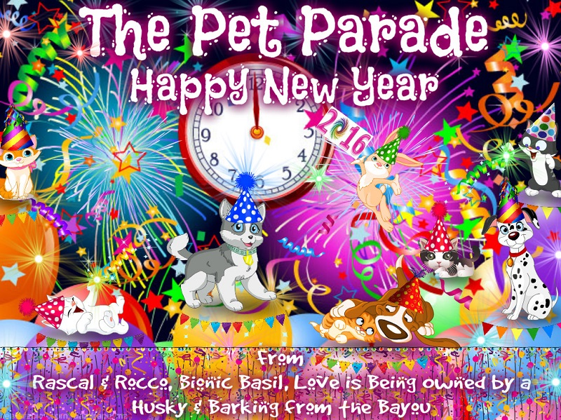 The 2016 New Year celebration for animals and  all pets. Come join the fun with cats, dogs, rabbits.. all your favorites