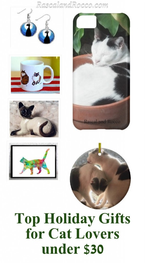 Top gifts for cat lovers under $30! Cat gifts | cat art | cat mugs | cat ornaments
