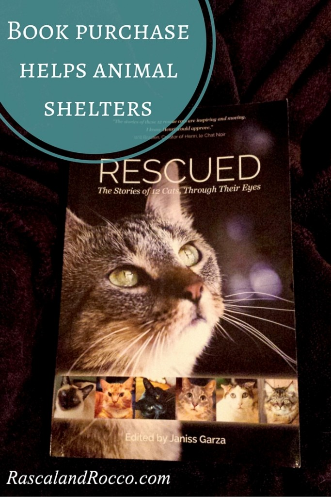 Looking for a great book for you or a gift? Purchase Rescued and help animal charities now. Top seller on Amazon is the perfect book to cuddle up with your cat and read while helping animals