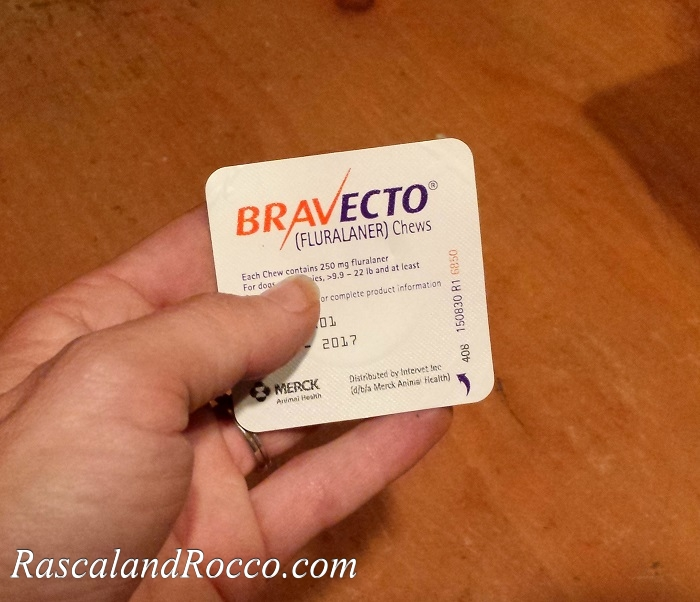 BRAVECTO flea and tick chewable dog medication