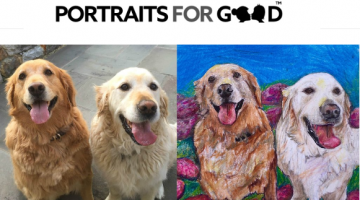 Pet Portrait Artists Give Back #mondaymatters