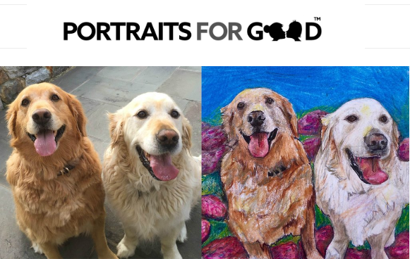 Portraits for Good pet portraits and more artists that give to animal charities